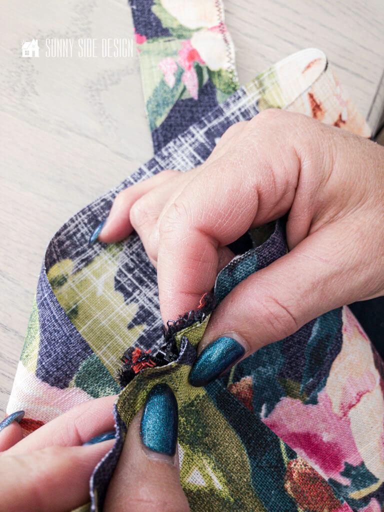 Left zipper lap