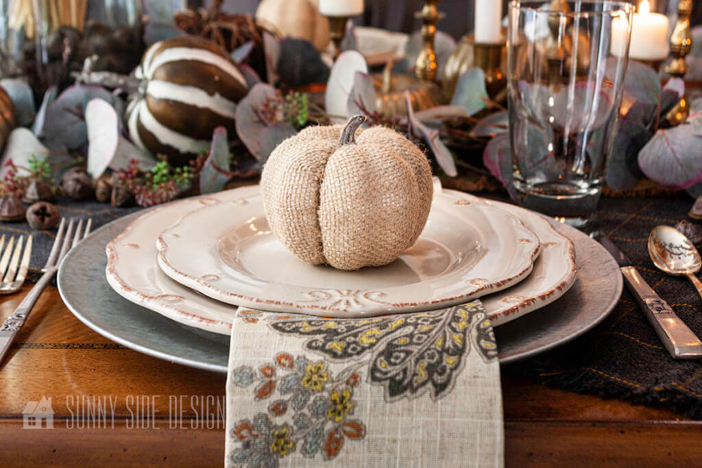 Setting the Thanksgiving Table with a Special Gift