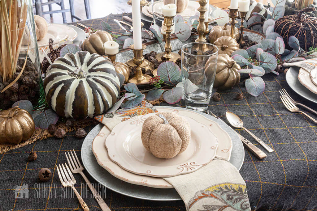 Setting the Thanksgiving Table with White Dishes