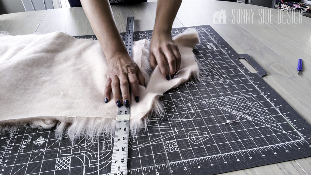 Cutting Fabric for Throw Pillow