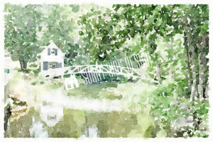 Cottage Over the Bridge | Printable Wall Art