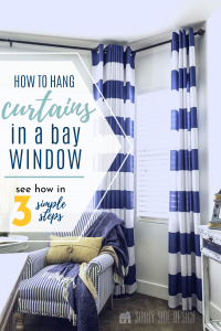 how to hang curtains in a bay window