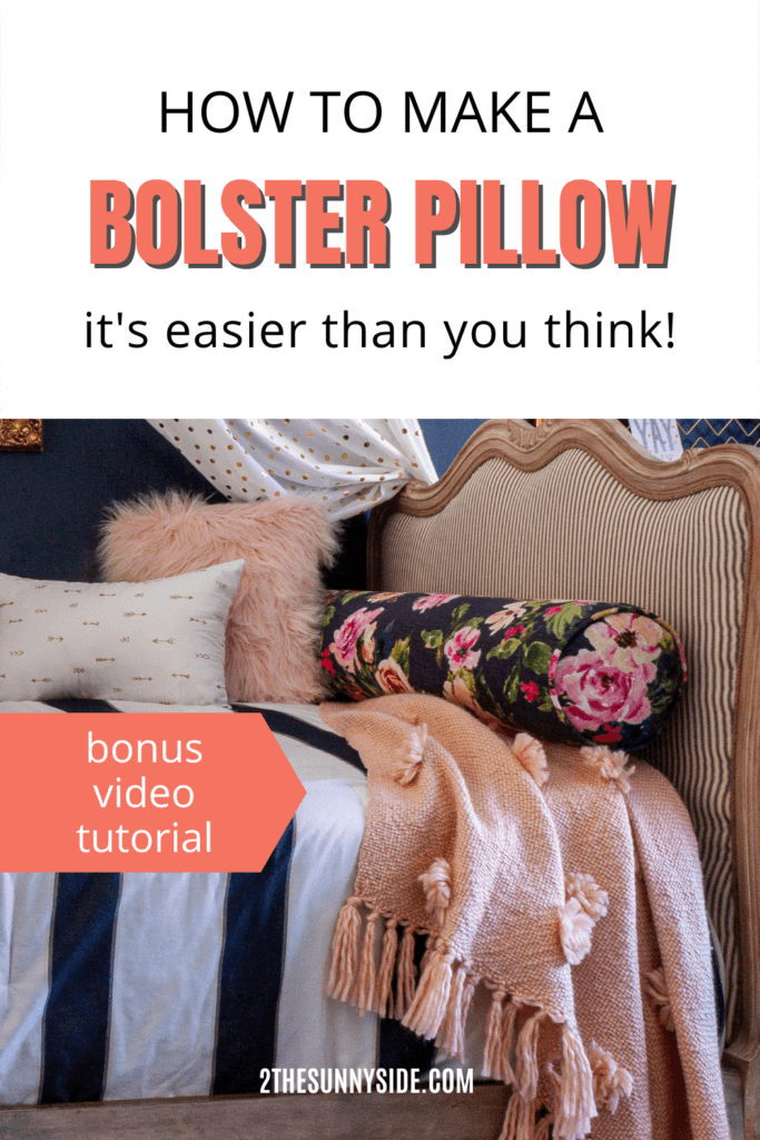 Bolster Pillow Tutorial