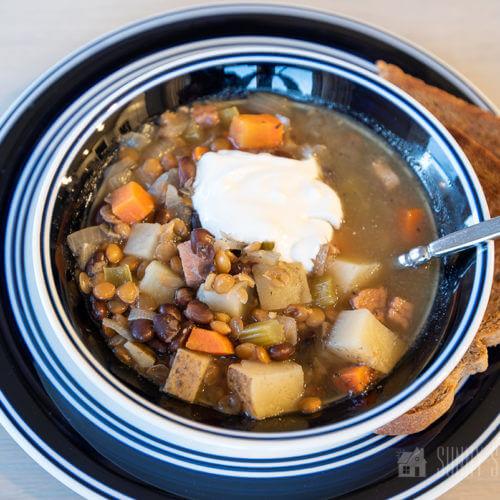 Bean and Lentil Soup Recipe