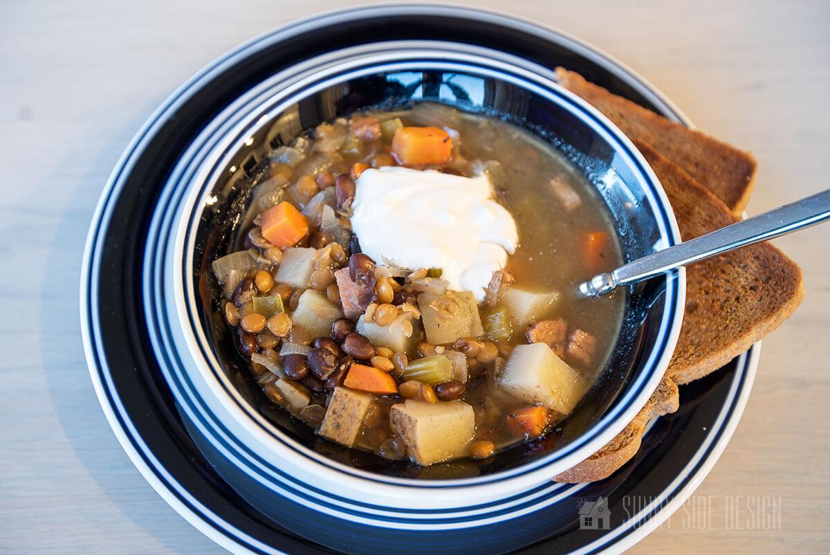 The Best Lentil Soup Recipe using a Slow Cooker