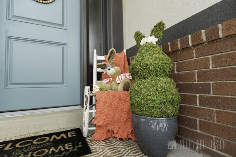 DIY Easter Bunny Topiary