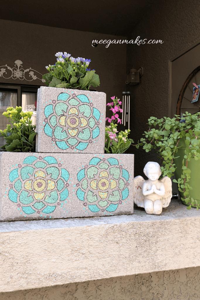 diy cement flower pots