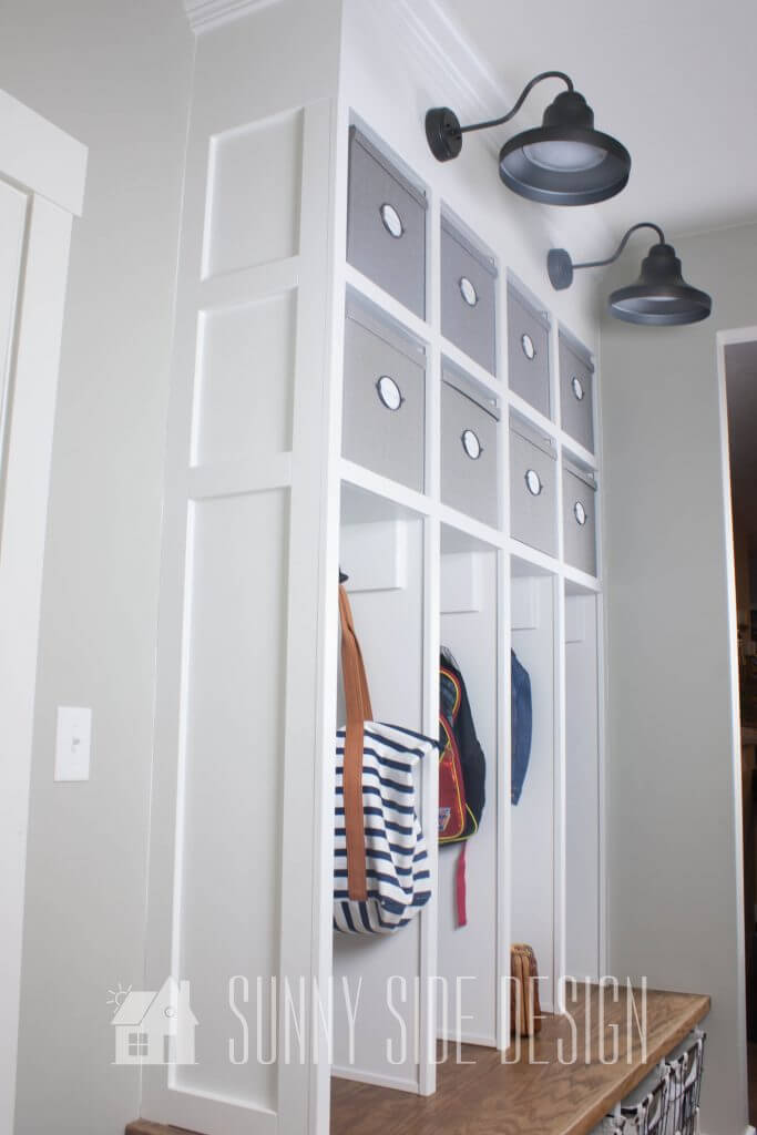 mudroom built-in detailing