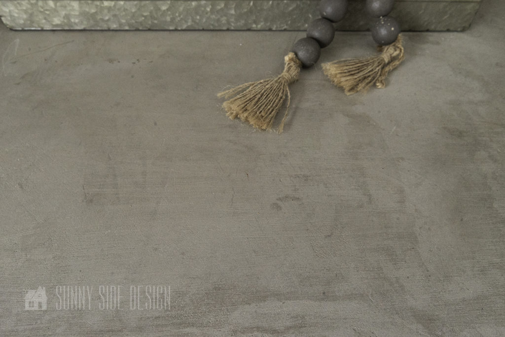 feather finish countertop