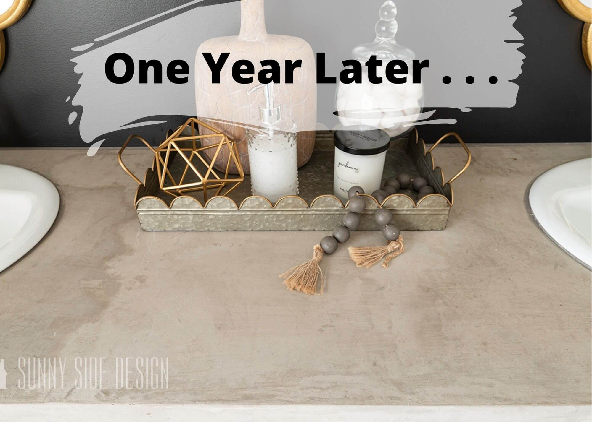 Affordable Feather Finish Countertop | How It Looks One Year Later
