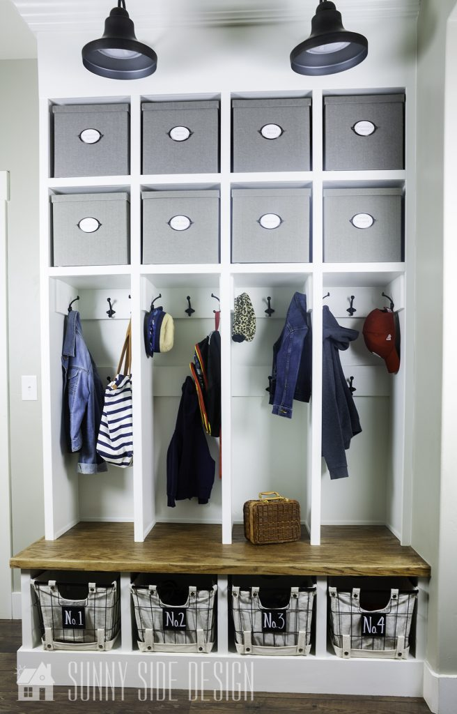 DIY mudroom upgrade