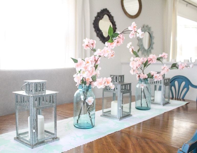 simple spring table decor