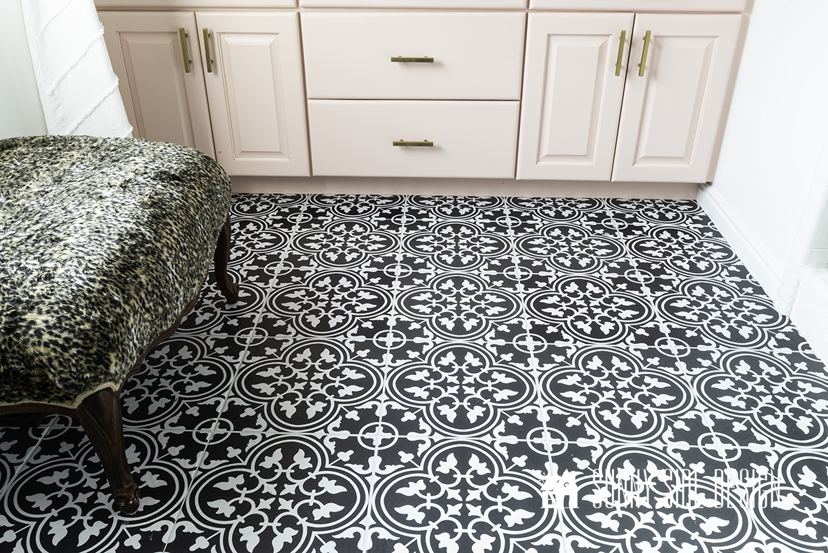 Simple Inexpensive Self Adhesive Floor Tiles | One Year Later