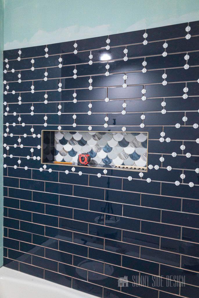 Tile shower progress