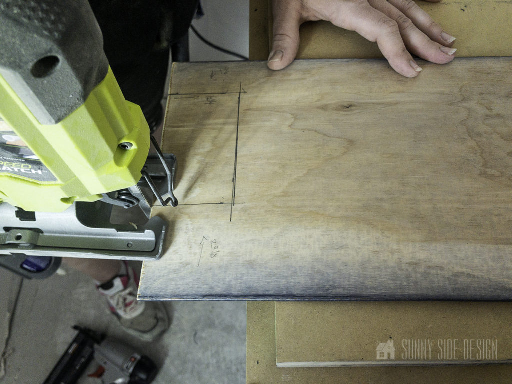 cut shiplap to fit around electrical outlet