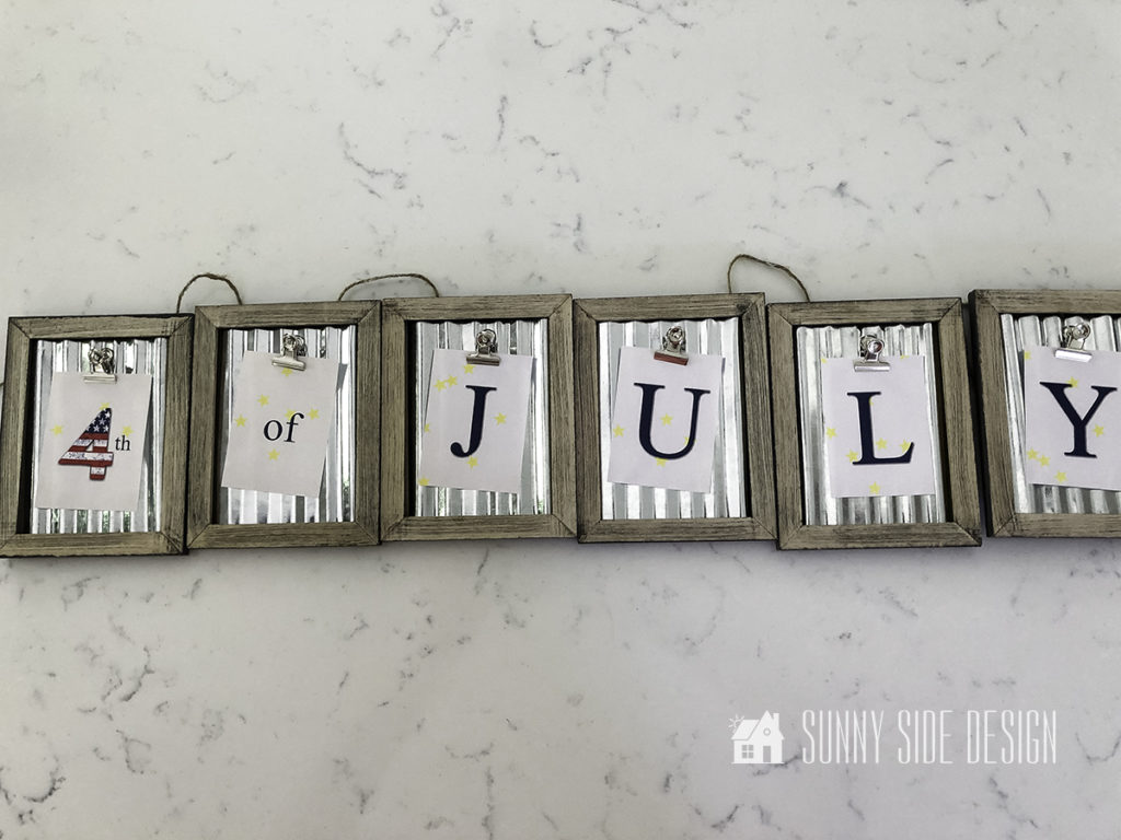 Crafting a 4th of July Bunting