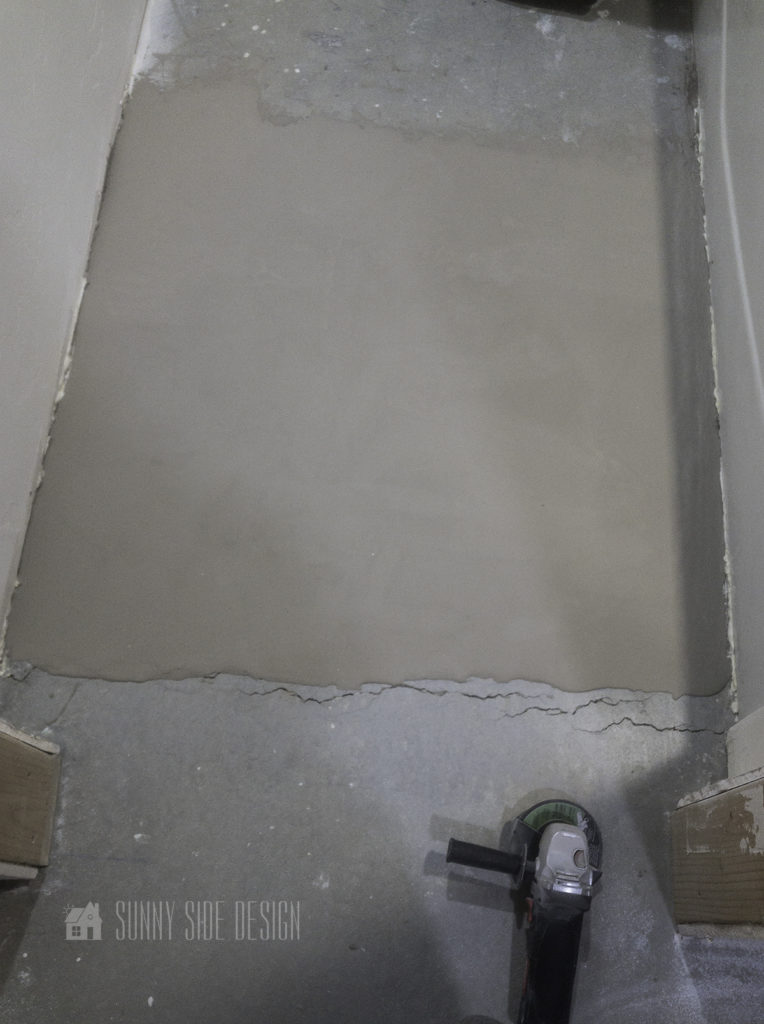use a grinder to smooth edges of self leveling concrete