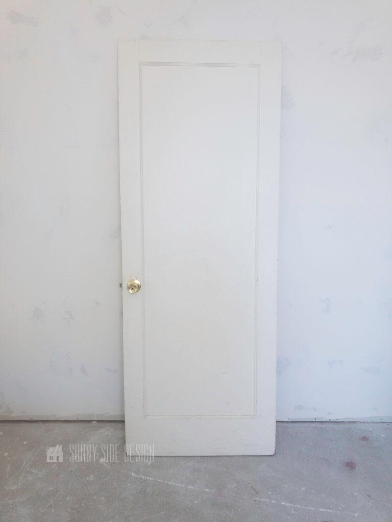 old door before it's converted into a barn door