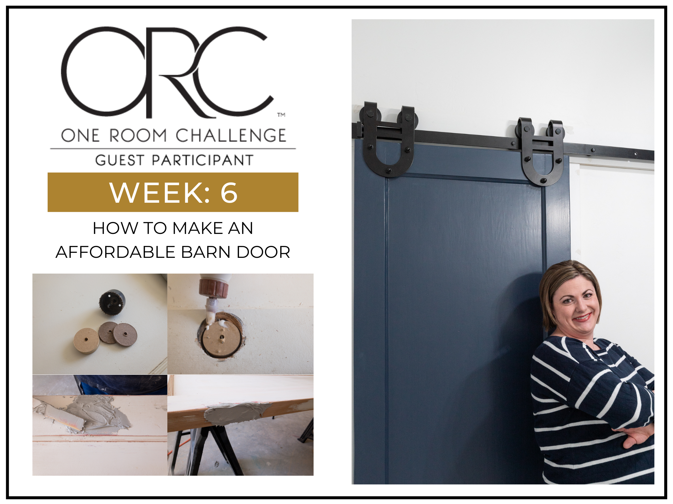 How To Make an Affordable Barn Door for the Bathroom