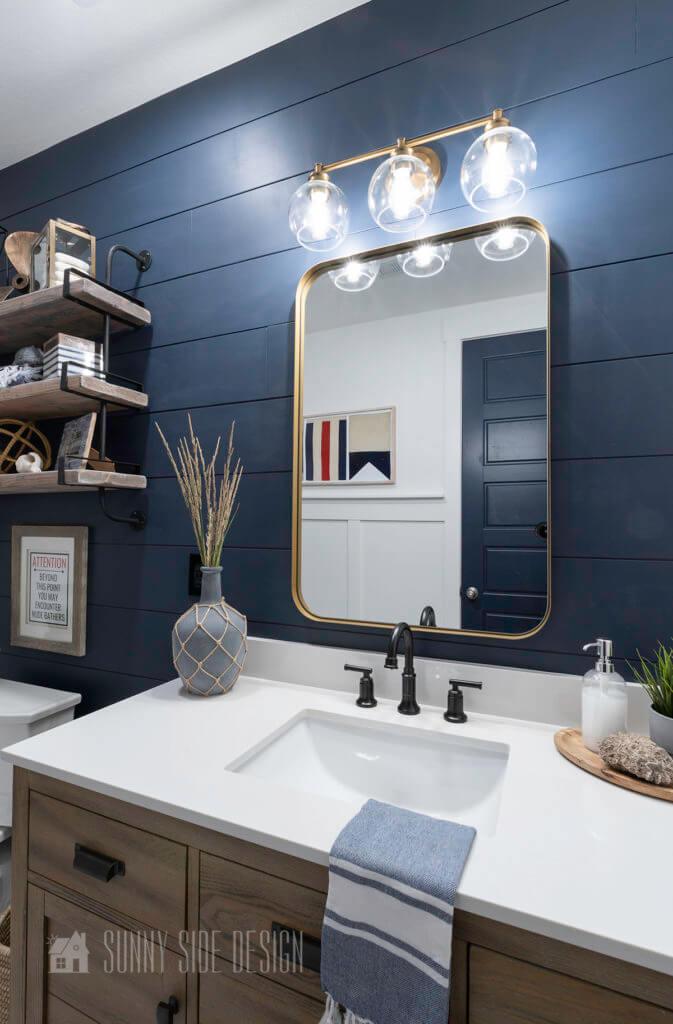 coastal inspired modern bathroom