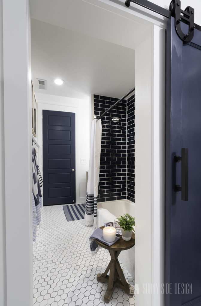A look into the shower area