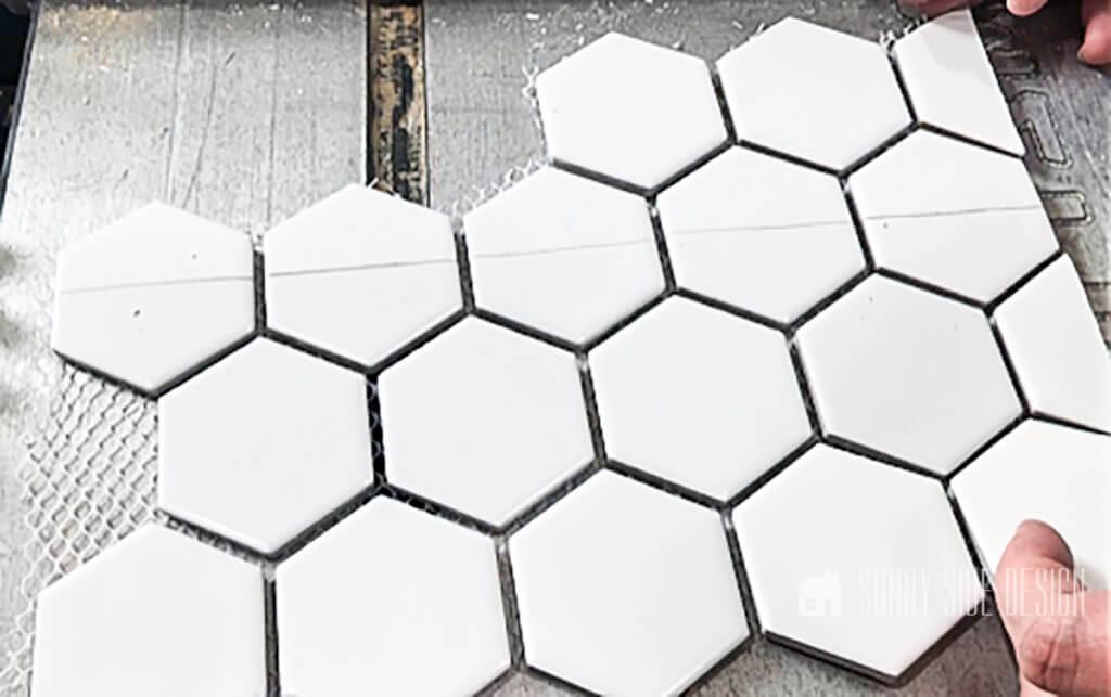 hexagon tiles cut