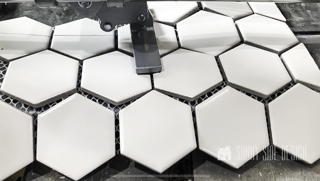 apply pressure to snap hexagon tile