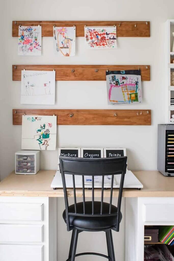 homework room idea creating diy art display
