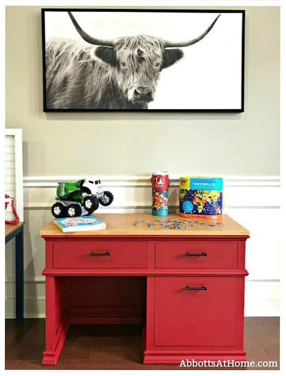 Creative diy desk build, pottery barn look