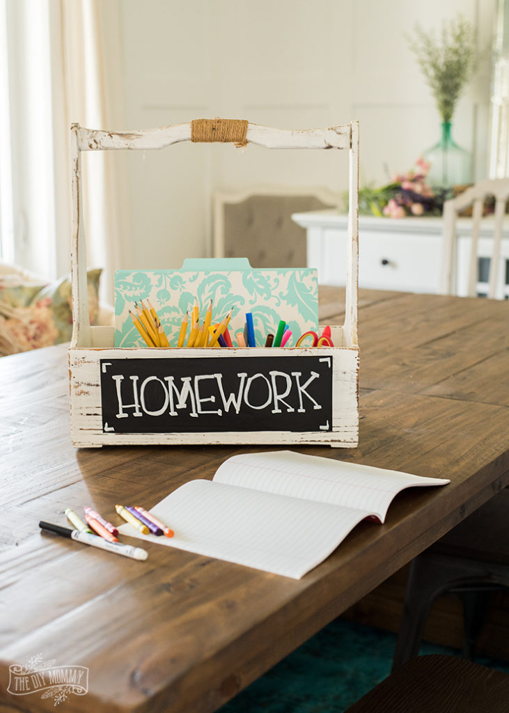 portable homework station perfect for use in any space in the home