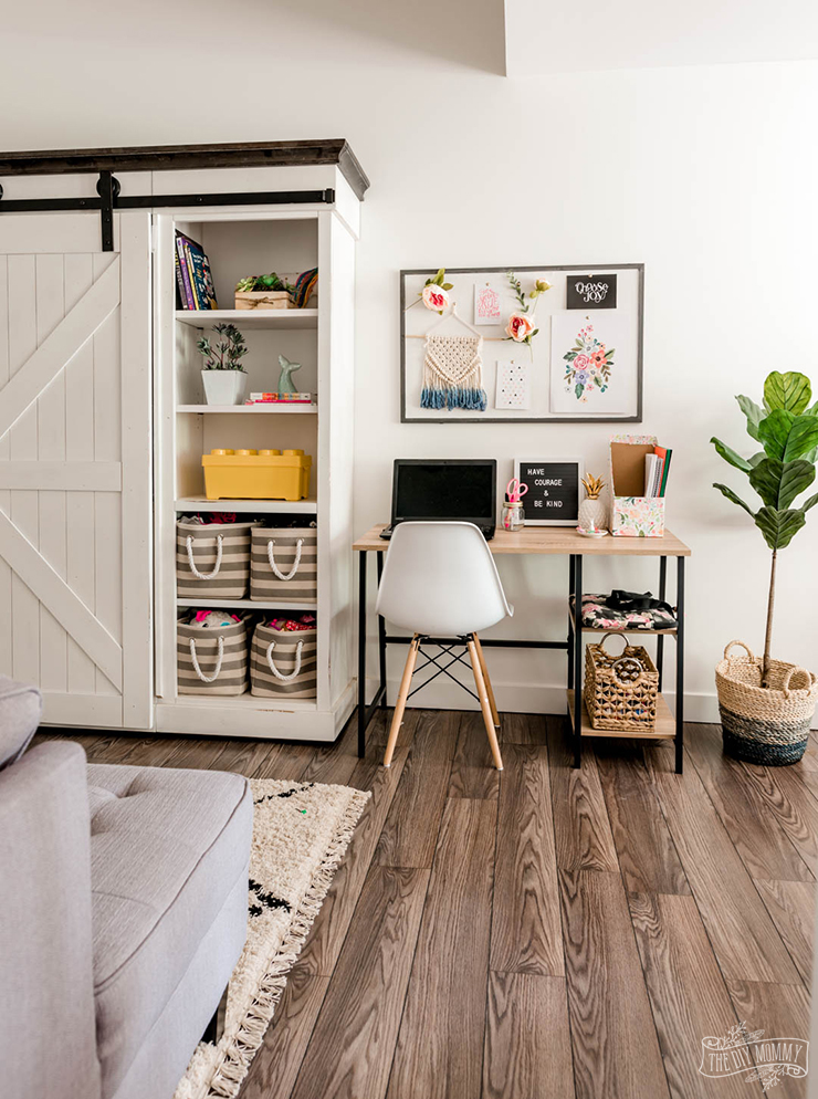 creative desk space without a dedicated room for study